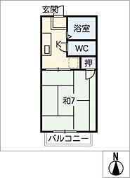 タウン菱川[1階]の間取り