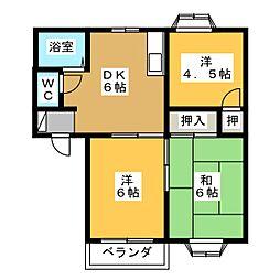 レジデンス金岡[2階]の間取り