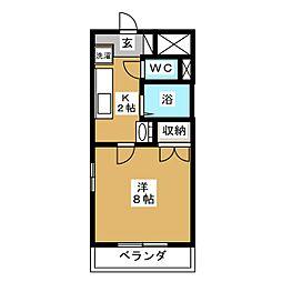 グランドール弐番館[1階]の間取り
