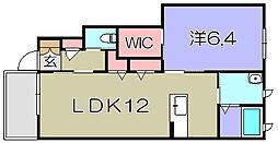シャーメゾンテルス[1階]の間取り