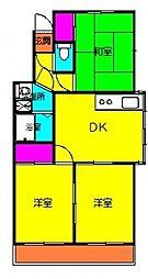 藤の宮桜井マンション西[302号室号室]の間取り