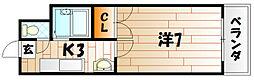 ビブレ江南[6階]の間取り