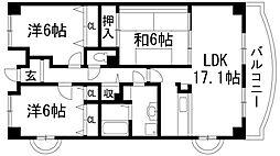 マンショングレース[3階]の間取り