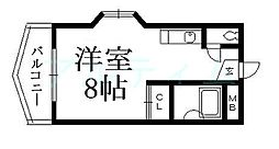 京都府京都市東山区今熊野剣宮町の賃貸マンションの間取り