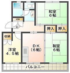 松原マンション[201号室]の間取り