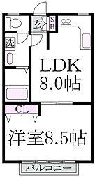 大野ハイツ[1階]の間取り