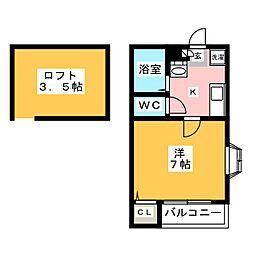 メゾンドタクト[2階]の間取り