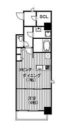 Osaka Metro御堂筋線 淀屋橋駅 徒歩5分の賃貸マンション 2階1LDKの間取り