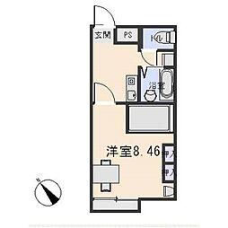 レオパレス筑紫[2階]の間取り