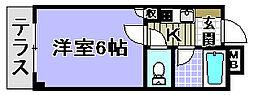 ドミール小松里[103号室]の間取り