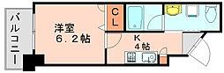 プレスタイル博多駅南 サウス[8階]の間取り