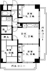 モン ヴェール東戸塚[3階]の間取り