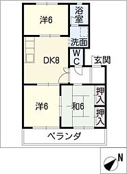 ピーチシャトーコジマ[3階]の間取り