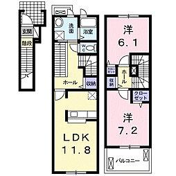 セレッソD[2階]の間取り