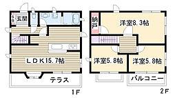 [一戸建] 愛知県名古屋市名東区高社1丁目 の賃貸【/】の間取り