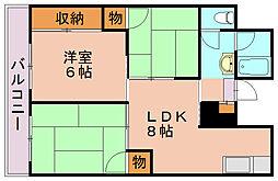 福岡県福岡市南区柳河内2丁目の賃貸マンションの間取り