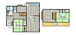 [一戸建] 千葉県我孫子市青山台2丁目 の賃貸【千葉県 / 我孫子市】の間取り
