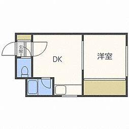 ローヤルハイツ341[3階]の間取り