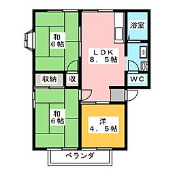 ディアビレッジ小舩 C棟[2階]の間取り
