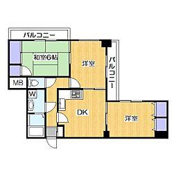グッドライフ21[3階]の間取り