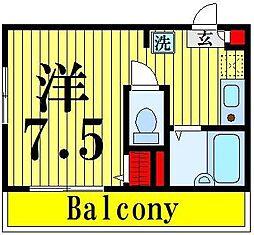 東京都足立区梅島2の賃貸アパートの間取り