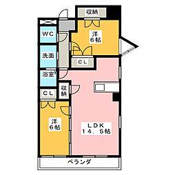 Benvenuto下稲[2階]の間取り
