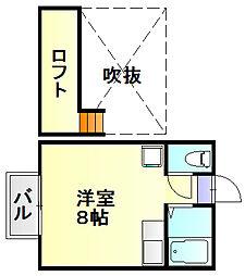 ラメール南福岡[3階]の間取り