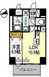D-room新町3丁目[5階]の間取り