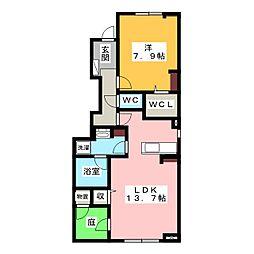 サニータウン[1階]の間取り