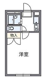 千葉県八千代市下市場2丁目の賃貸マンションの間取り