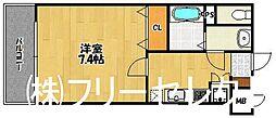 福岡県福岡市博多区美野島2の賃貸マンションの間取り