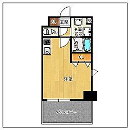 サヴォイ ソリディティ 5階ワンルームの間取り
