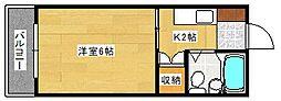 アメニティ長束Ⅱ[102号室]の間取り