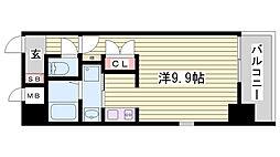 エスライズ新神戸[8階]の間取り