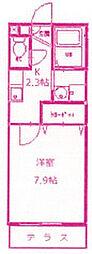 マグノリアハイツ[1階]の間取り