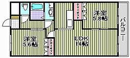 パルス和泉中央[2階]の間取り