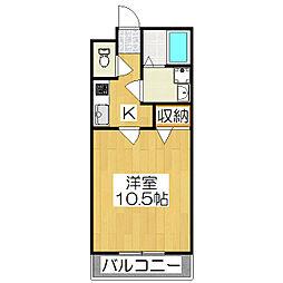 京都府京都市伏見区竹田中島町の賃貸アパートの間取り