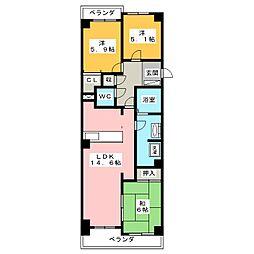 ルイシャトレ甚目寺[5階]の間取り