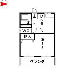 旭コーポ[2階]の間取り