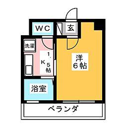 プリンスハイツ第6[2階]の間取り