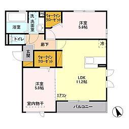 la・muse〜ラ・ミューズ〜[3階]の間取り