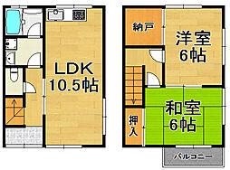 [テラスハウス] 兵庫県川西市萩原台西1丁目 の賃貸【/】の間取り