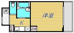 東京都大田区東雪谷2丁目の賃貸マンションの間取り