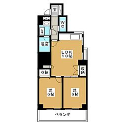 プレジャーコート[6階]の間取り