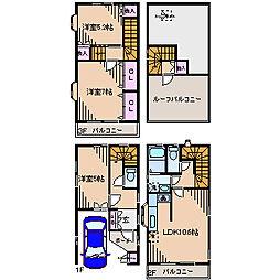 [一戸建] 神奈川県横浜市港北区樽町2丁目 の賃貸【/】の間取り