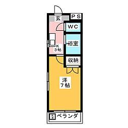 レオン八事 西館[3階]の間取り