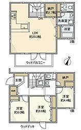 [一戸建] 東京都町田市広袴3丁目 の賃貸【/】の間取り