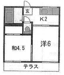 コーポ・ファースト[2階]の間取り