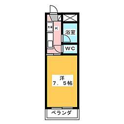 ステーションモンパルナス[3階]の間取り
