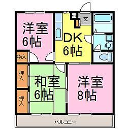 プラムガーデンKATO[1階]の間取り